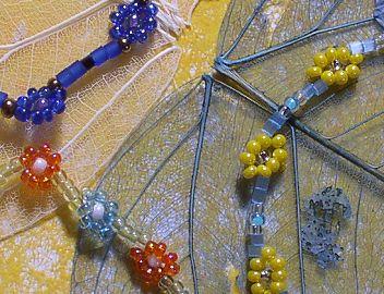 Náramky z korálků - vzor 3